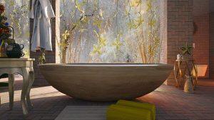 Pomembno je, da se talne keramične ploščice dobro kombinirajo s preostalo kopalniško opremo
